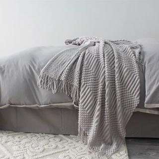 フランフラン(Francfranc)のラスト1点❗ワッフル  ブランケット 北欧 西海岸 ライトグレー(毛布)