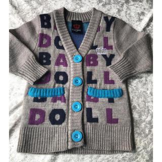 ベビードール(BABYDOLL)の美品☆ベビードール 80 ミッキー カーディガン ニット セーター 羽織り(ニット/セーター)