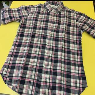 ブラックフリース(BLACK FLEECE)のブラックフリース 半袖シャツ チェックシャツ BB4(シャツ)