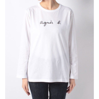 agnes b. - 新品 agnes b. アニエスベー ロゴ 長袖Tシャツ Lサイズ