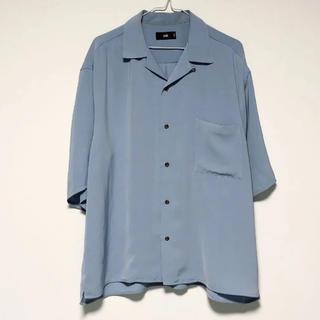 ハレ(HARE)のHARE オープンカラーシャツ ブルー L(シャツ)