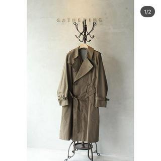 コモリ(COMOLI)のオーラリー finx chambray big trench coat(トレンチコート)