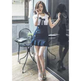 リボン ナイトドレス ワンピース ミニワンピース キャバドレス 韓国