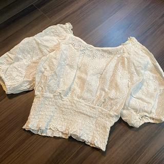 ダブルクローゼット(w closet)のレースブラウス(シャツ/ブラウス(半袖/袖なし))
