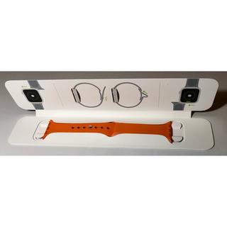 エルメス(Hermes)のApple Watch HERMES オレンジ ラバーバンド 40mm(ラバーベルト)
