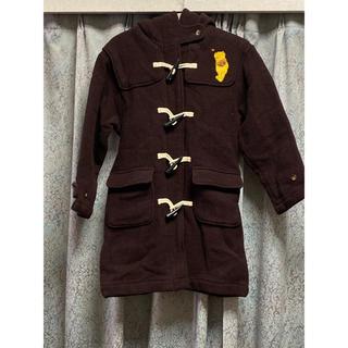 Disney - Disney Pooh くまのプーさん 茶色 ブラウン ダッフルコート 刺繍 冬