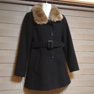 オゾック(OZOC)の美品 OZOC ファー付きブラックコート サイズS(ロングコート)