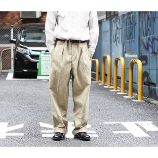 1LDK SELECT - [M52]FRENCH ARMY CHINO TROUSERS