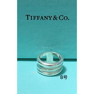 ティファニー(Tiffany & Co.)のTIFFANY&Co. ティファニーダイアゴナル シルバーリング 8号(リング(指輪))
