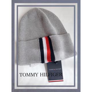 トミーヒルフィガー(TOMMY HILFIGER)のトミーヒルフィガー ロゴテープコットン ニット キャップ(ニット帽/ビーニー)