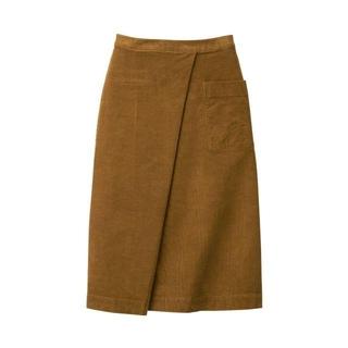 MUJI (無印良品) - 未使用 無印 イージーセミフレアスカート XL