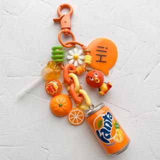オレンジ♡じゃらじゃらキーホルダー(キーホルダー/ストラップ)