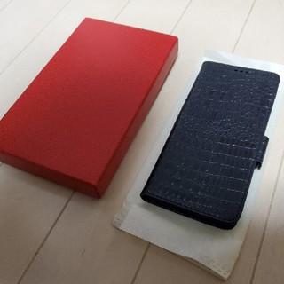 ギャラクシー(Galaxy)のGalaxy s20 本革 牛革 レザー ケース 手帳 手帳型 クロコダイル 黒(Androidケース)