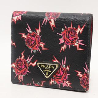 PRADA - 本日限定値下げ 19aw Prada サフィアーノ バラプリント 財布