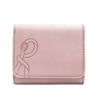 ロベルタディカメリーノ(ROBERTA DI CAMERINO)の新品 本革 折財布 ピンク 三つ折り サブリナ 牛革 レザー(財布)