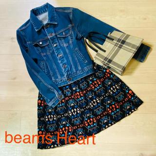 ビームス(BEAMS)のbeams Heart オルテガ風ニットスカート 美品(ひざ丈スカート)