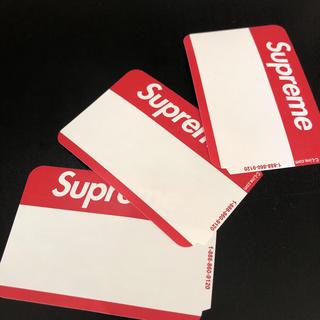 シュプリーム(Supreme)のSupreme バッジ badgeステッカー3枚(ノート/メモ帳/ふせん)