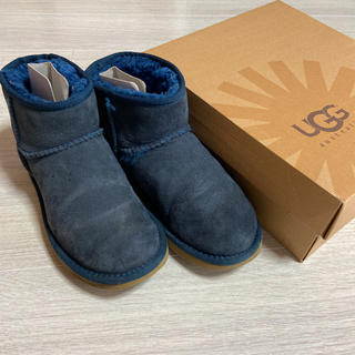 アグ(UGG)のアグ UGG ムートンブーツ 7  ネイビー(ブーツ)
