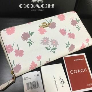 COACH - プレゼントにも  新品コーチ  美しい光沢長財布 F55881