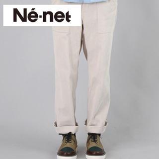 ネネット(Ne-net)の【美品】ネネット ベイカーコーデュロイパンツ オフホワイト(カジュアルパンツ)