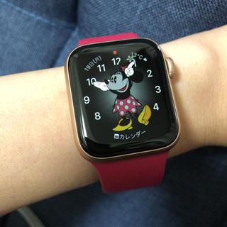 アップルウォッチ(Apple Watch)のApple Watch Series 5 Cellular モデル ゴールド(腕時計)