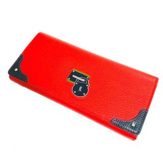 ロベルタディカメリーノ(ROBERTA DI CAMERINO)の新品 本革 牛革 レザー 長財布 赤 レッド(財布)