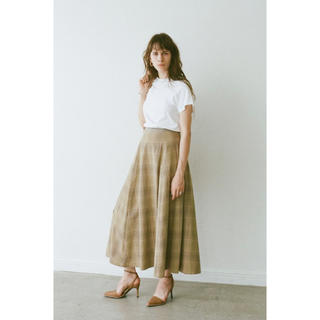 ENFOLD - CLASSIC FLARE LONG SKIRT