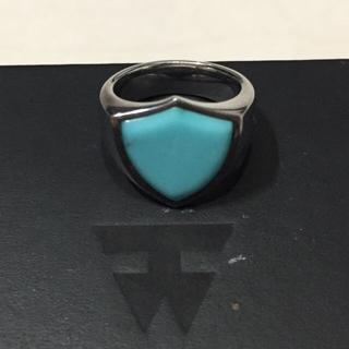 マルタンマルジェラ(Maison Martin Margiela)のTOMWOOD リング ターコイズ シールド ピンキーリング 3号 指輪(リング(指輪))