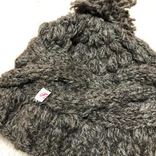 ピュアルセシン(pual ce cin)のpual ce cin ピュアルセシン ニット帽 ニットキャップ 茶(ニット帽/ビーニー)