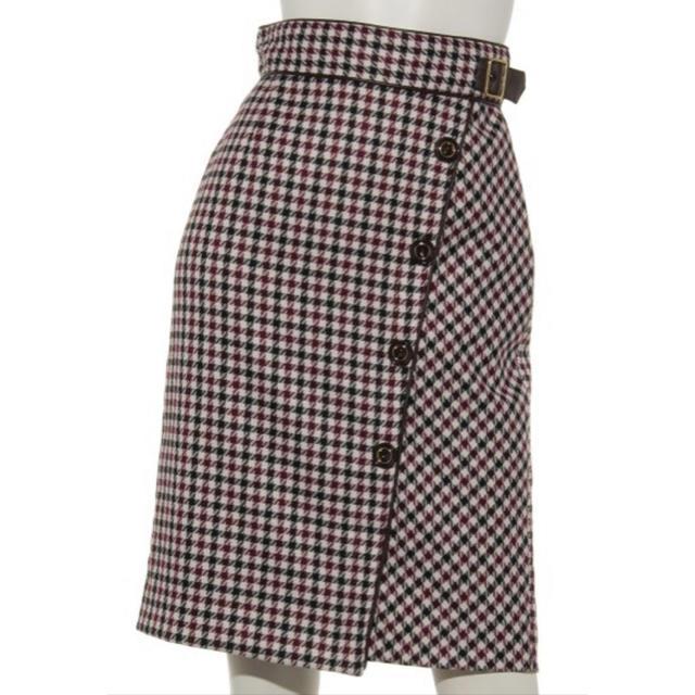 Apuweiser-riche(アプワイザーリッシェ)のカラーチェックタイトスカート アプワイザーリッシェ 新品未使用 レディースのスカート(ひざ丈スカート)の商品写真