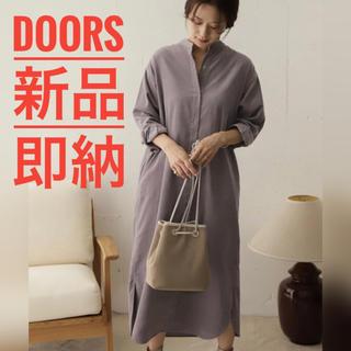 DOORS / URBAN RESEARCH - 【タグ付き新品】DOORS スタンドカラーコーデュロイワンピース