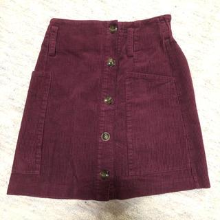 カスタネ(Kastane)のコーデュロイスカート 台形スカート(ひざ丈スカート)