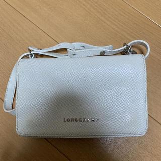 ロンシャン(LONGCHAMP)のLONGCHAMPホワイトバッグ(ショルダーバッグ)