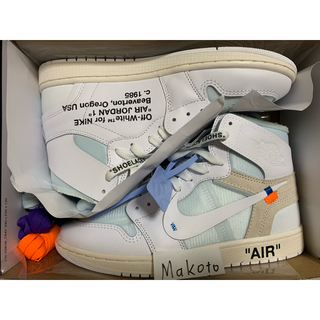NIKE - Off-White × Nike Air Jordan1 NRG EU 28cm