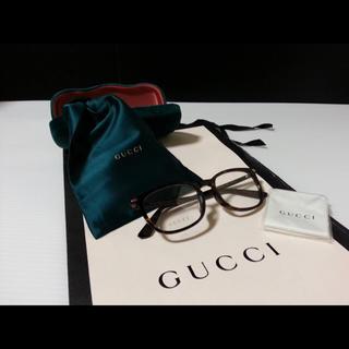 Gucci - 新品 定価 3.4万 GUCCI グッチ 伊達メガネ べっ甲ブラウン