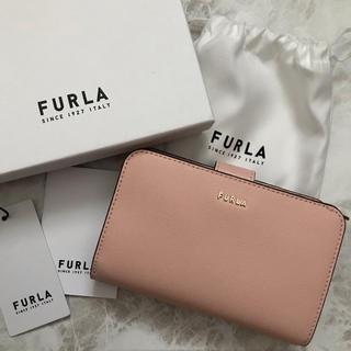 フルラ(Furla)の新品!フルラ FURLA 二つ折り財布 ピンク ベージュ (財布)