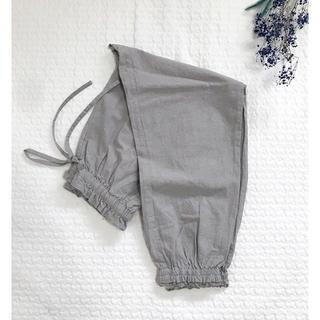 SM2 - 新品◎サマンサモスモス リネン混裾ギャザーレースパンツ グレー ペチパンツ 今期
