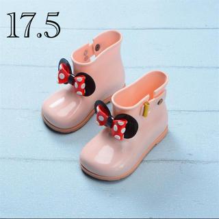 長靴 リボン 女の子 ピンク レインブーツ 桃色