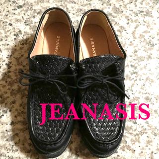ジーナシス(JEANASIS)のジーナシス   チロリアンメッシュシューズ 黒(ローファー/革靴)