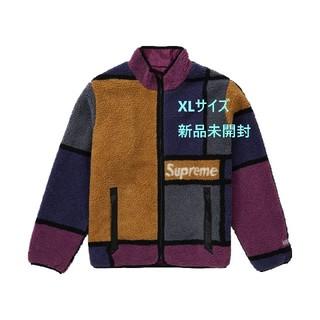 Supreme - Supreme Colorblocked fleece Purple XL