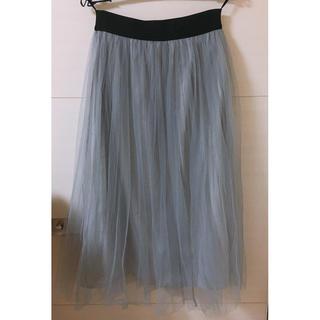 ミスティウーマン(mysty woman)のシフォンスカート(ひざ丈スカート)