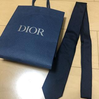 ディオール(Dior)のdior シルク ネクタイ ネイビー(ネクタイ)