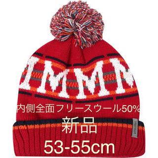 マーモット(MARMOT)のマーモット Marmoto ニットキャップ 裏フリース 帽子 ポンポン付き(登山用品)