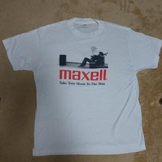 アンビル(Anvil)のmaxell 白Tシャツ 古着 ヴィンテージ(Tシャツ/カットソー(半袖/袖なし))