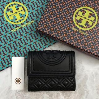 Tory Burch - 新品!トリーバーチ 三つ折り財布 ブラック 黒 ロゴ財布
