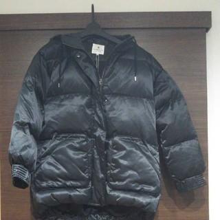 ランバンオンブルー(LANVIN en Bleu)のランバンオンブルー  ダウンコート  黒  38サイズ(ダウンコート)