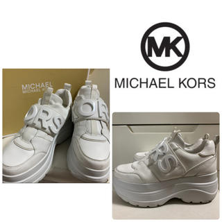 Michael Kors - マイケルコース ホワイトレザー スニーカー
