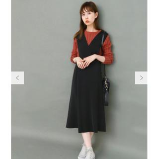 KBF - KBF 変形ジャンパースカート ブラック