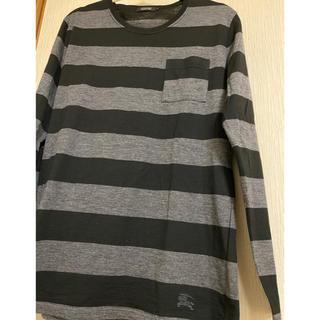 バーバリーブラックレーベル(BURBERRY BLACK LABEL)のバーバリーブラックレーベル BURBERRY ロンT Tシャツ 長袖 美品(Tシャツ/カットソー(七分/長袖))