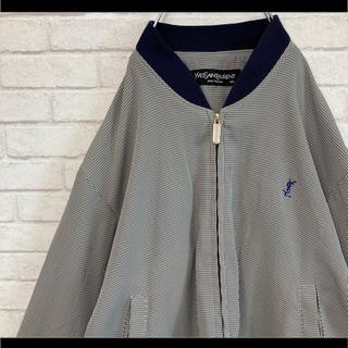 Saint Laurent - イヴサンローラン ブルゾン チェック柄 胸元ロゴ刺繍 サイズ95 韓国製